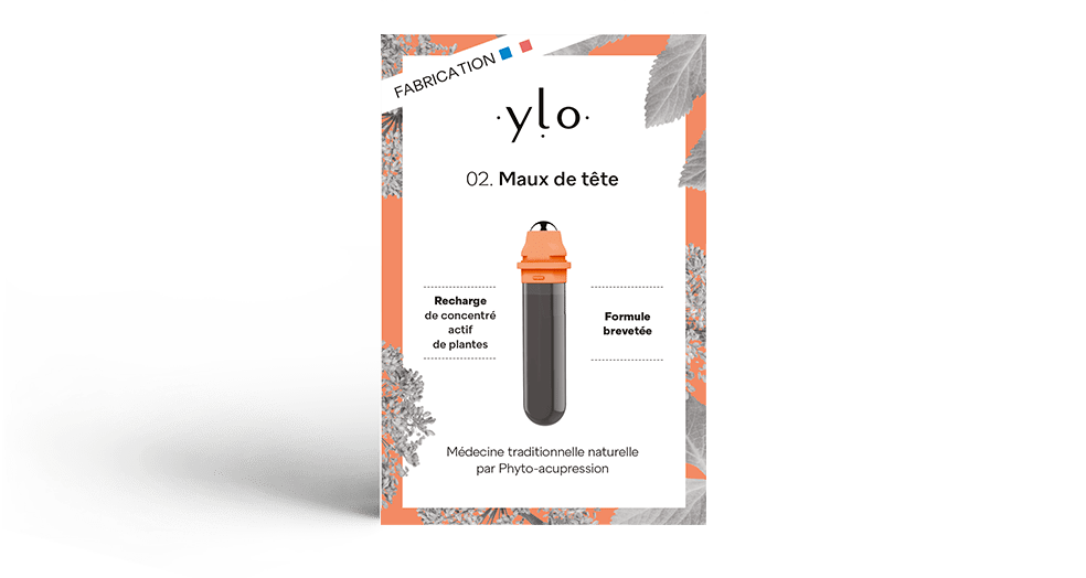 Ylo Sante Pack Maux de tête Recharge Stylo 2 Phyto-acupression