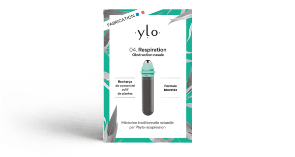 Pack Recharge Respiration de médecine traditionnelle naturelle par Phyto-acupression pour obstruction nasale Ylo 4 Phyto-acupression
